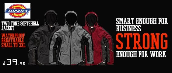 Dickies two tone soft shell jacket £41.95 inc vat