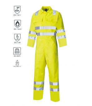 Flame Retardant Anti-Static Arc coverall - Hi vis yellow