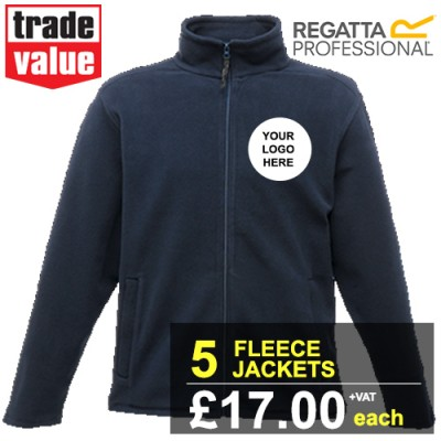 Embroidered Regatta Thor III Fleece Jackets - 5 pack | £17+vat each