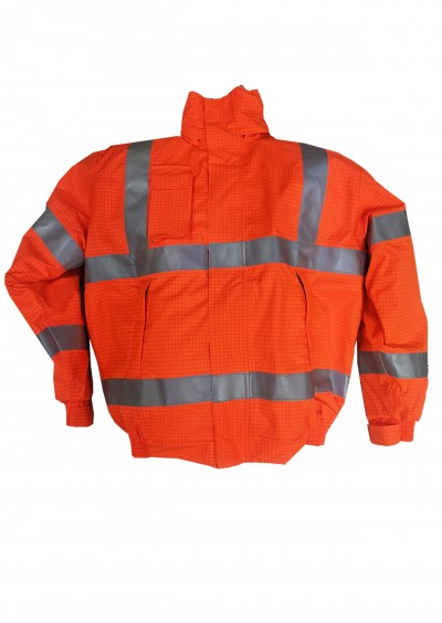 Flame Retardant Jacket hi vis orange