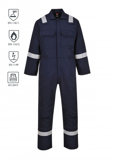 FLAME RETARDANT ANTI-STATIC HiVVis Coverall - Navy