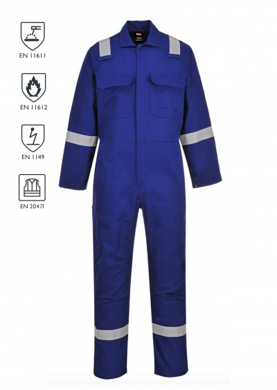 FLAME RETARDANT ANTI-STATIC Hi Vis Coverall - Royal