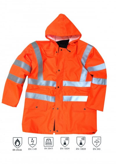 Flame Retardant/Anti-Static Pro Jacket  - Orange