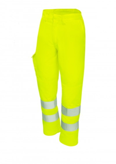 Flame Retardant Work Trouser - Hi Vis Yellow