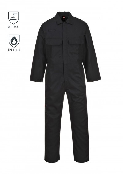 Flame Retardant coverall - Black