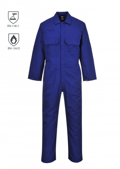 Flame Retardant coverall - Royal Blue