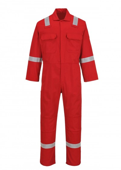Flame retardant hi vis coverall - Red