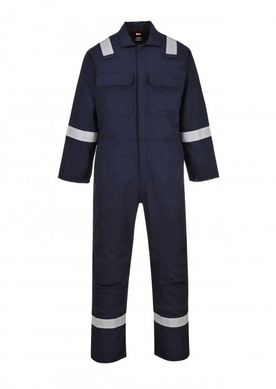 Flame retardant hi vis coverall - Navy