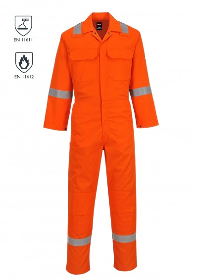 Flame retardant hi vis coverall - Orange
