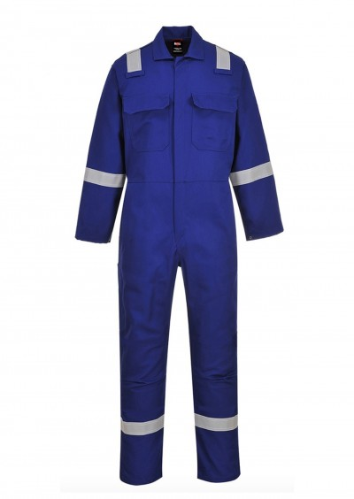 Flame retardant hi vis coverall - Royal Blue