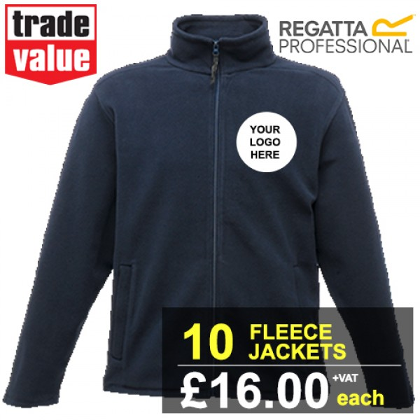 Embroidered Regatta Thor III Fleece Jackets - 10 pack | £16+vat each