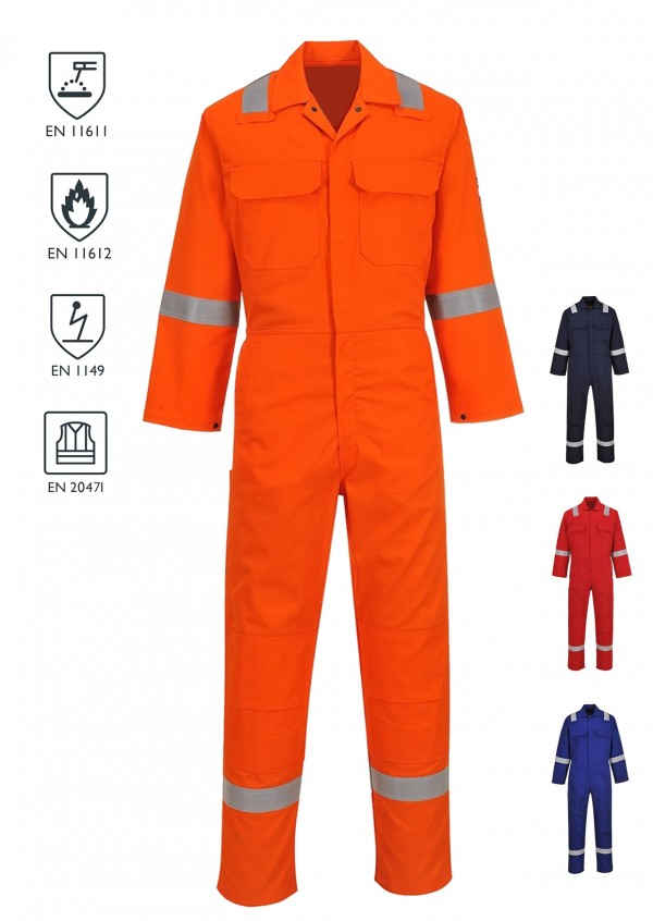 FR/AS HiVis Coverall - Red