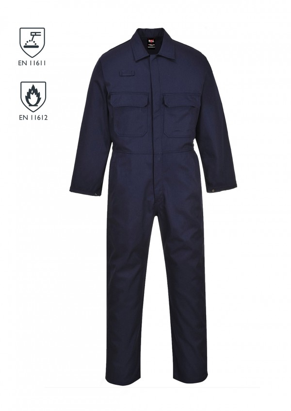 Flame Retardant Coverall - Navy Blue