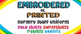 Embroidered or printed nursery staff uniform